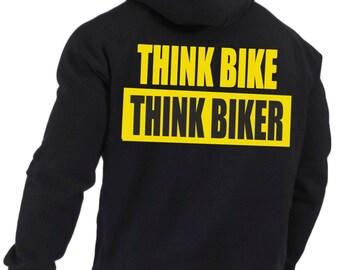Think Bike Think Biker Hoodie