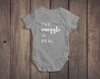 The Snuggle Is Real Baby Onesie // Baby Boy Onesie // Baby Boy Clothing // Baby Boy Outfit // Baby Shower Gift // Baby Boy Gift