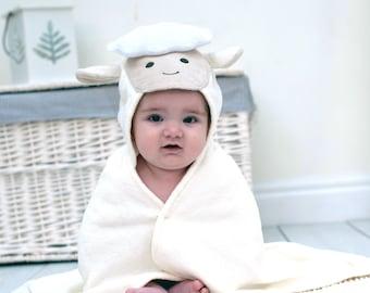 Personalised Spring Lamb Baby Towel