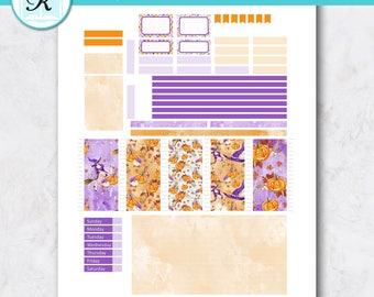 Passion Planner Stickers * Compact Sized Passion Planner * Printable Planner Stickers - HALLOWEEN SPOOK - Digital Download