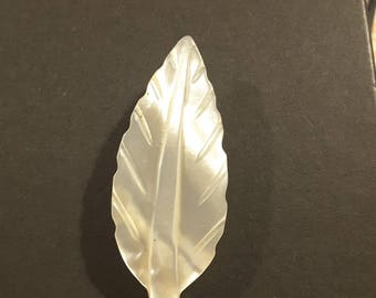 Vintage Mother of Pearl 1930's leaf.