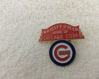 Chicago Cubs Wrigley Field Vintage Enamel Pin