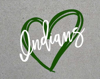 Indians Heart SVG
