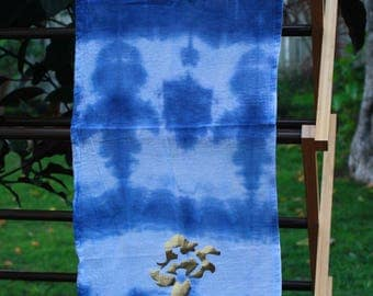 Tie-dye Hand Towel with Gold Mermaid