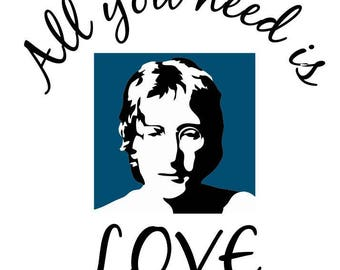 BEATLES DECAL John Lennon All You Need is Love Music