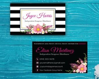 LipSense Business Card, Lip Sense Business Card, SenegGence Business Card, Lipsense Marketing, Printable Digital LSS01