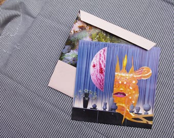 Collage Letter Card: Sweet Scene de la Mer