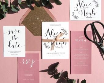Elegant Calligraphy Wedding Suite 'Magic Moments'