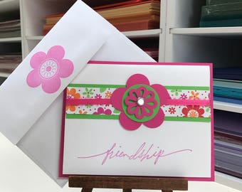 Pink Posy Card 4 Pack