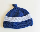 Woollen hat, kids beanie, handmade beanie, hat for boy or girl, woollen cap, blue hat, knitted hat, knitted bonnet. Made in Italy. Baby gift