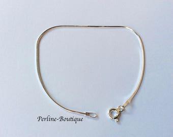 Bracelet snake 1 mm Sterling Silver 925 18cm