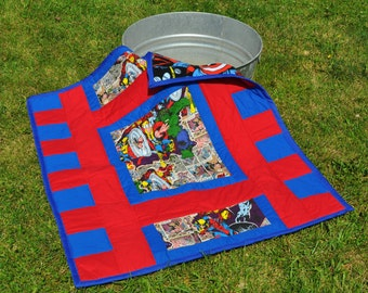 Super Hero baby/toddler Quilt
