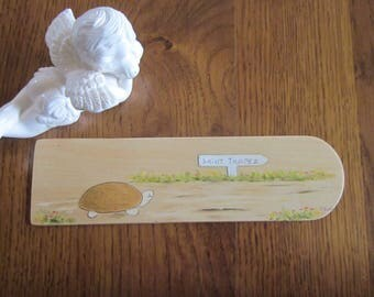 Inlay wood handpainted turtle bookmark
