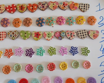buttons, two pockets multi colors