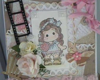Kit and tutorial for a card with a Magnolia character