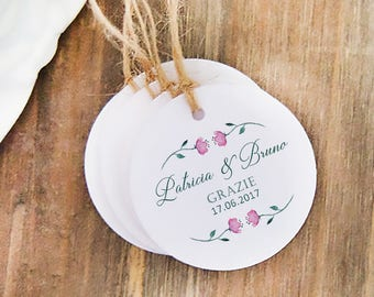 Thanksgiving labels Custom Labels, business cards, wedding Floral wedding favors, Wedding Tags