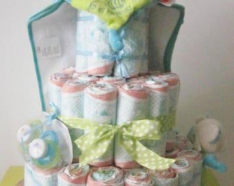Baby diaper cake gift boy