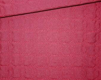 Pique fabric quilted 50 x 150 cm, ellipses, Burgundy