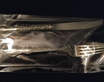 DU BARRY Youth Knife & Fork Set, Sterling 1968 by International Silver Co.