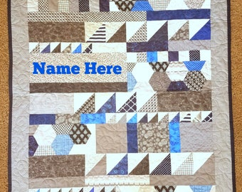 Baby name quilt etsy custom baby name quilt personalized crib quilt heirloom baby quilt high end baby negle Image collections