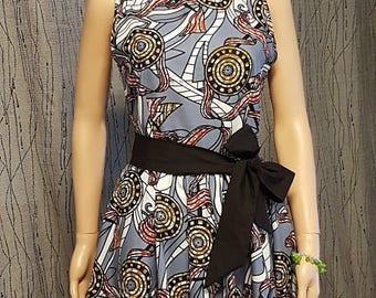 1 dress knee long dress made of Wax.  HAND MADE