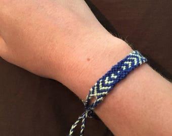 striped diamond knotted friendship bracelet