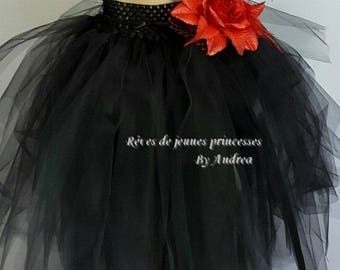 Black soft tulle tutu skirt