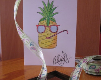 Pineapple PDF,A5 colorful Pineapple PDF,Summer Pineapple PDF,Beach,Fashion Pineapple,Modern and fresh Fruit, Pineapple sketch, All occasions