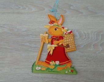 Mommy rabbit wooden decor
