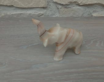 Elephant Alabaster vintage collectible home decor