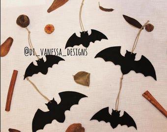 halloween decorations bats set of 5 bats black halloween bats fall decorations halloween bats clay - Halloween Decorations Bats
