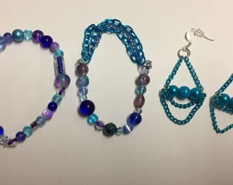 Bracelet with beads and chains