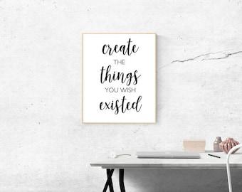 Create Printable Quote Art Work