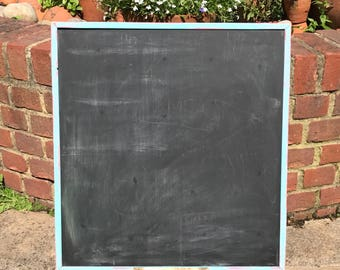 Medium sized blackboard or chalkboard with distressed frame and chalk tray