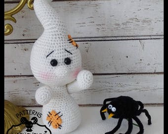 Ghost, plush crochet Amigurumi doll