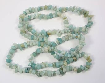 Stone Beads, Amazonite Beads, Amazonite Chips, Green/Blue Beads, Organic Shape Chip Beads, Natural Stone, DIY, BS175