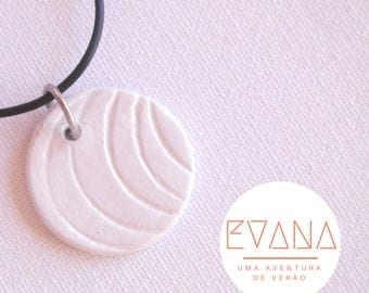 White Moons Round Necklace #6