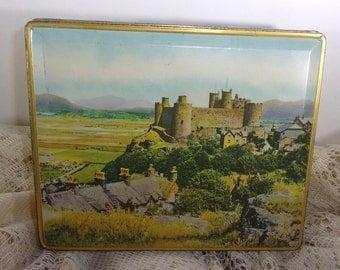 Edward Sharp and Sons LTD Tin, Vintage Castle Maidstone Kent, Metal Candy Tin Box