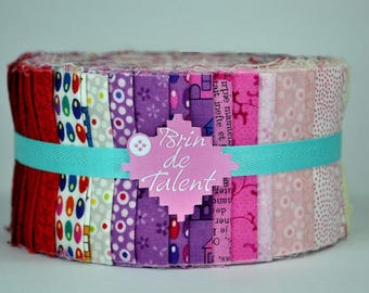 Quilt Roll Pinky - strips of fabric for quilt - Jelly Roll