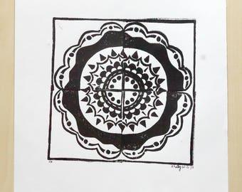 BW Mandala Print