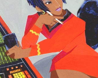 "Lt Uhura Portrait (5""x7"" or 8""x10"" Art Print)"
