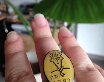 "Ring ""Fido"" 1992 adjustable, nickel free"