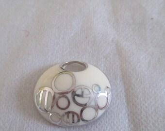 enamel oval pendant