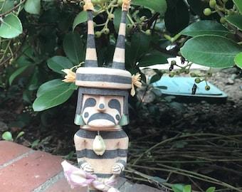 10 inch Vintage Hopi Hano Clown Kachina - Signed