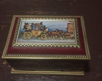 Vintage German tin candy box
