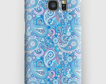Case for Samsung S5, S6, S6 + S7, S7 +, S8, S8 +, A3, A5, J3, GP, 4.5, 8, purple paisley