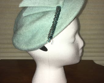 1920s Turquoise Hat