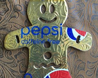 Gingerbread Man- Pepsi Can Ornament