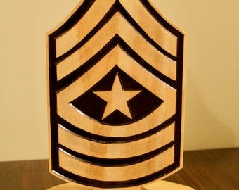 Military Rank Plaque (SGM)