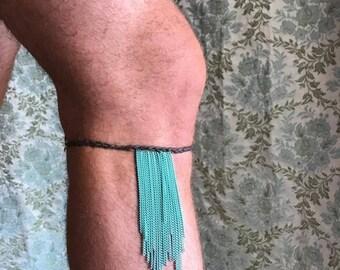 Blue Chain Calflet-Leg Jewelry